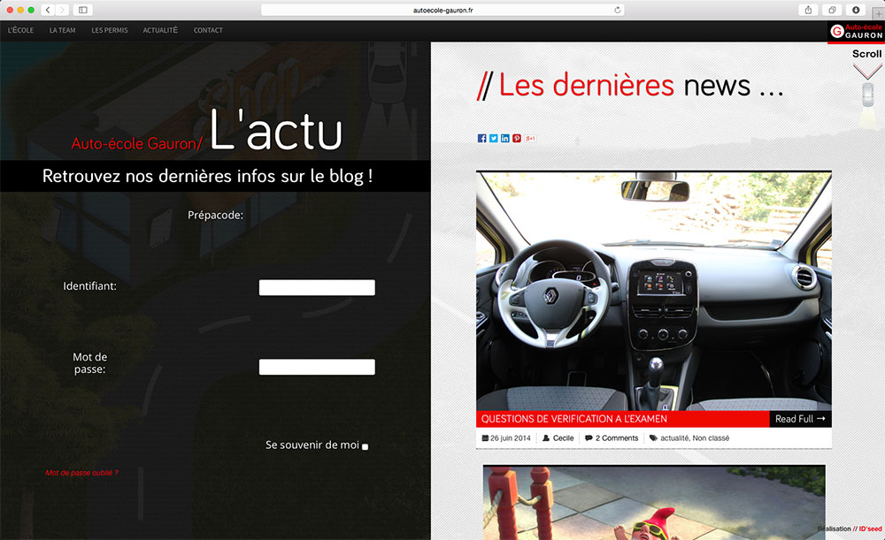 site auto ecole Gauron