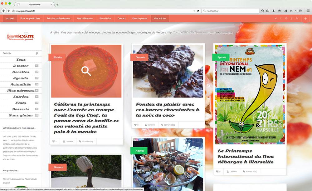 Accueil du blog Gourmicom