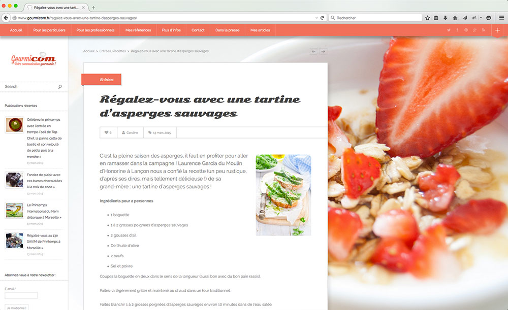 Article du blog Gourmicom