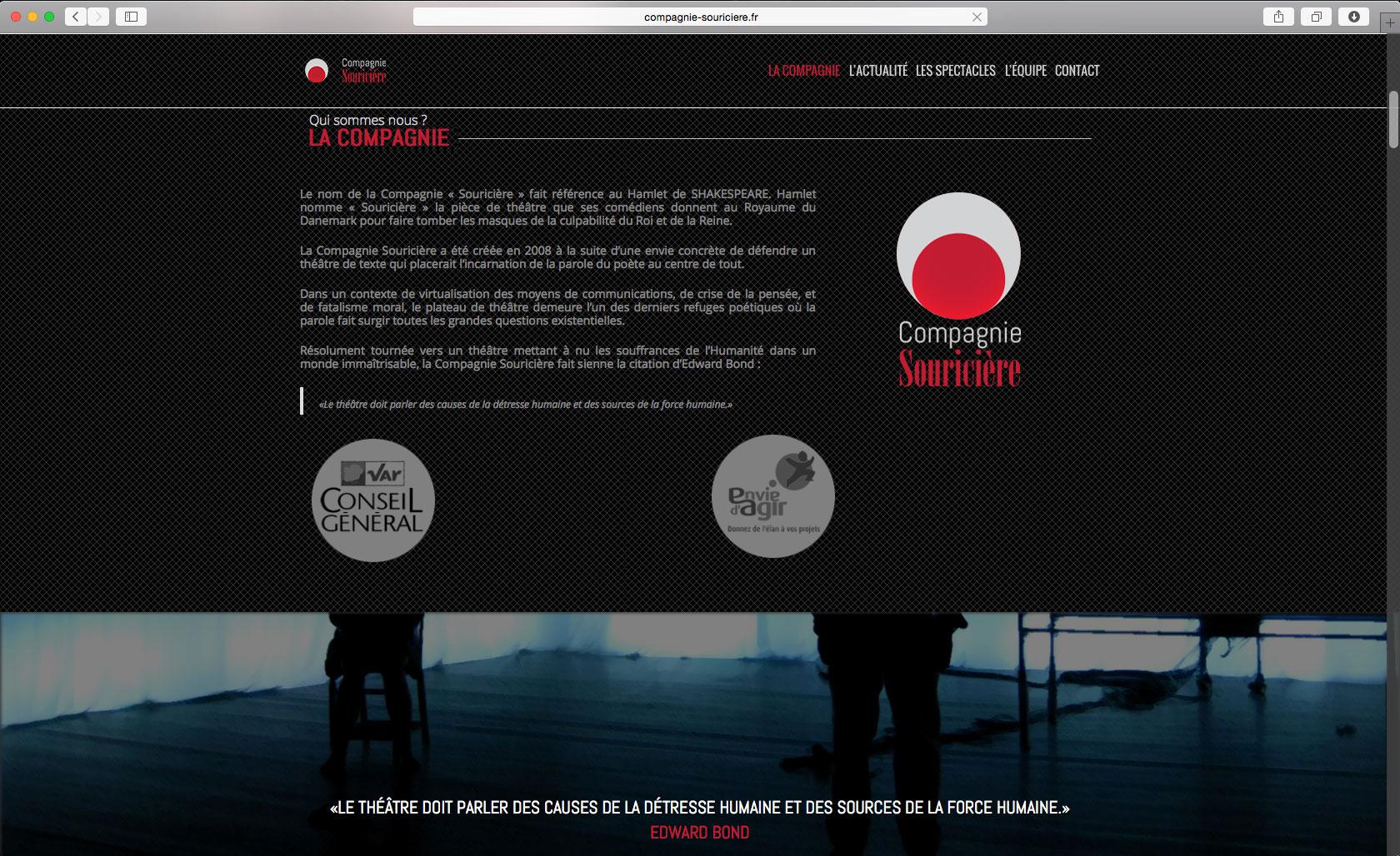 site internet de la compagnie souriciere