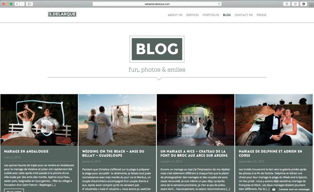 Page blog du site de Sébastien Delarque
