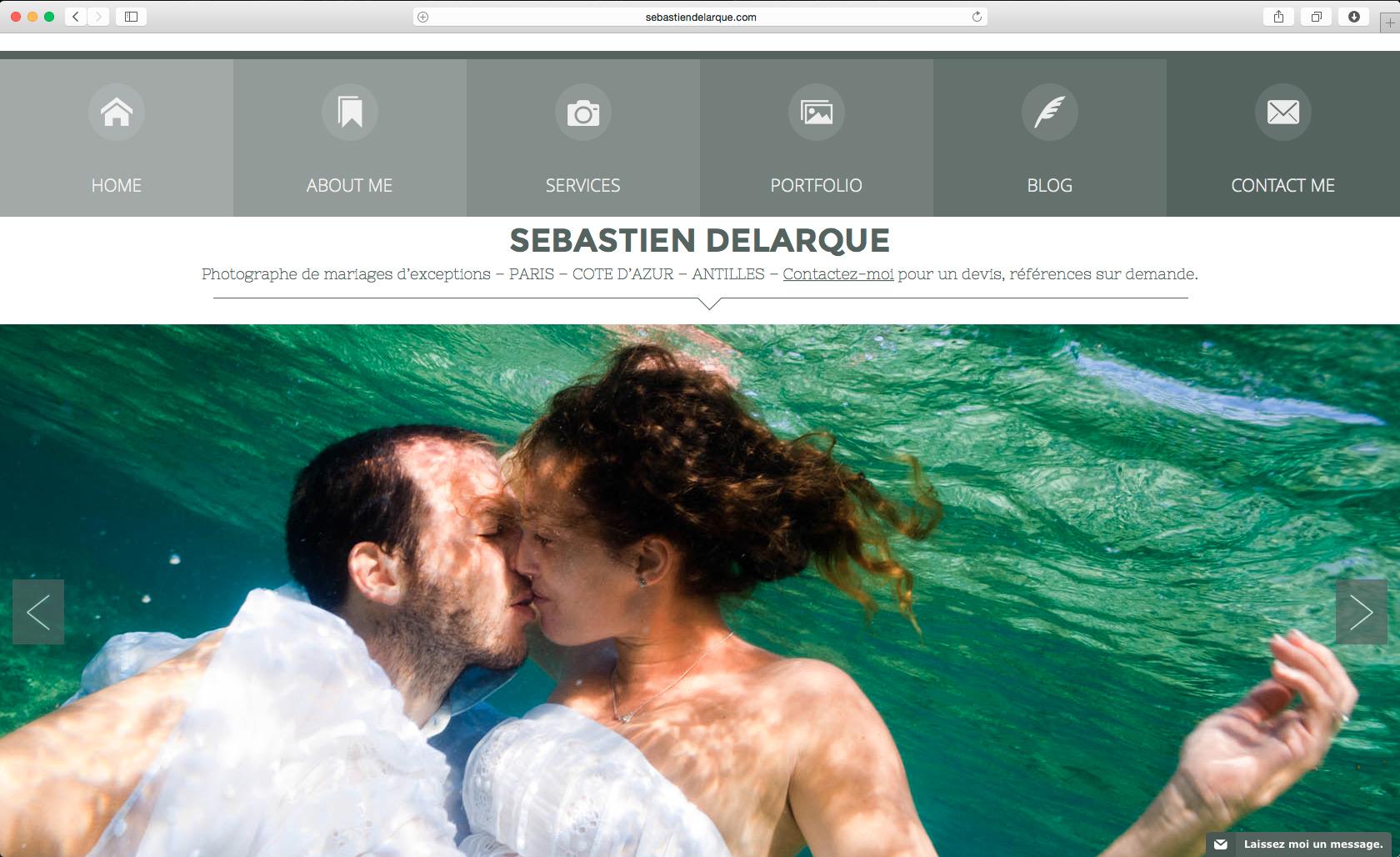 Accueil du site de Sébastien Delarque