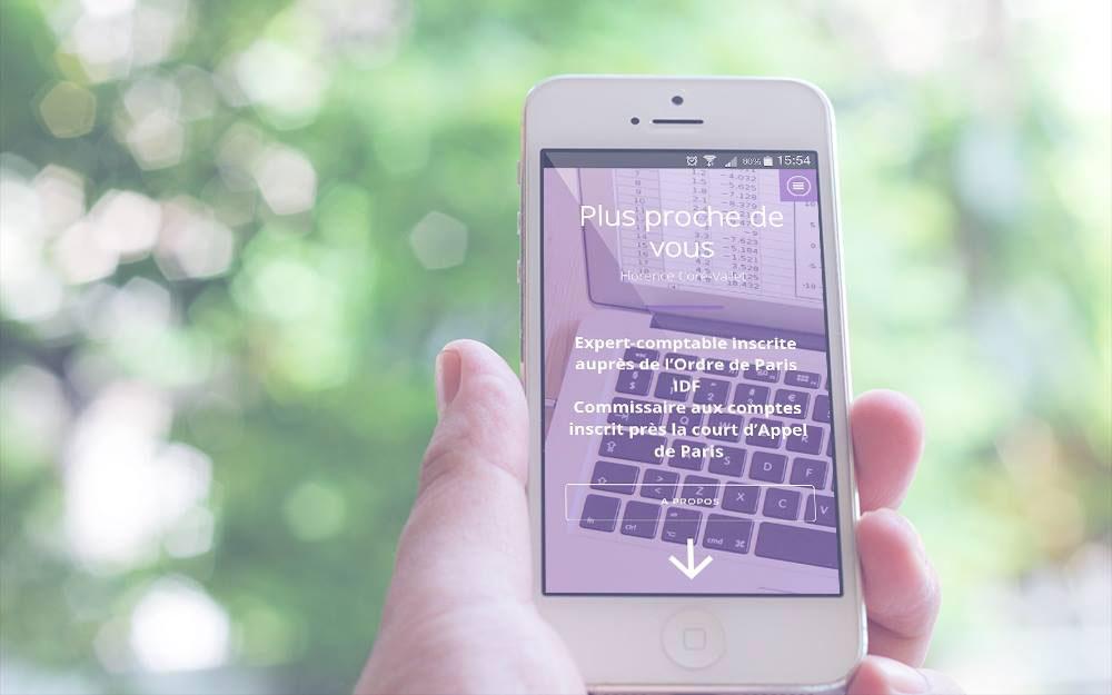 Version Mobile de la page d'accueil Fileas